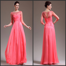 2013 Crystal Beaded Chiffon Evening Dress Elegant Mother Of The Bride Dress Long Prom Gown With Sleeves