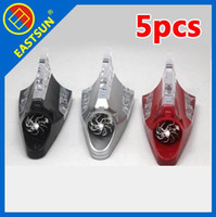 Wholesale EASTSUN Car Wind Power LED Shark Fin Antenna Warning Anti Tailgating Tail Flash Light Lamp Car Vehicle Decoration