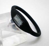 Fashion led watches - Men s Fashion Sport Watch South Korea Silicone Anion Ion Silicone Bracelet LED Watches Unisex Watch edison2011