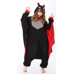 Wholesale Lovely bat Cosplay Costumes Animal bat Leopard Kigurumi Sleepwear