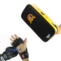 Wholesale Grappling MMA Gloves PU Punching Bag Boxing Gloves Black With Punching Bag Kick Pad Foot