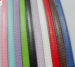 Fashion belt- 30 strips 8mm wide  1m length mix colors PU leather belt without buckle fit for 8mm diy slide charms