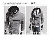Wholesale korean style men Mens workout clothes men Double layer collar clothing for men hoodies Street fashion hoodies for men hood