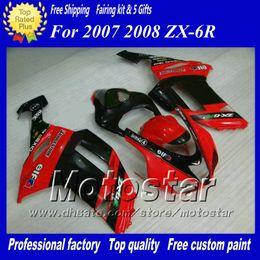 7 Gifts fairings set for Kawasaki Ninja ZX-6R 2007 2008 ZX6R 07 08 ZX 6R red black custom motorcycle fairings ac51