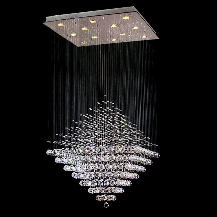 Modern Lighting Crystal Diamond Pendant Lamp Ceiling Light Rain