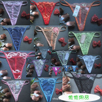 Wholesale Cheap Floral G string Sexy Lingerie Women Panty Sexy Underwear Lady Thong Intimate Wear