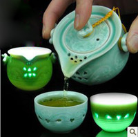 Wholesale Longquan celadon travel tea ceramic pot cup kung fu tea cup teapot mini pot