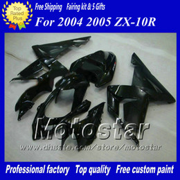 7 Gifts fairings set for Kawasaki Ninja ZX-10R 2004 2005 ZX10R 04 05 ZX 10R black custom aftermarket fairing ac63
