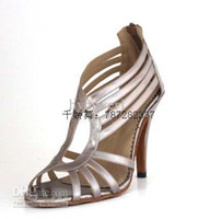 Wholesale Cool and soft bottom in high heeled women s shoes square latin dance shoes latin dancing shoes new f