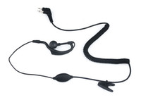 Wholesale 2 PIN PTT Curl Line Earpiece Mic for Motorola Radios GP300 CP88 PRO1150 CLS1110 New Black C005