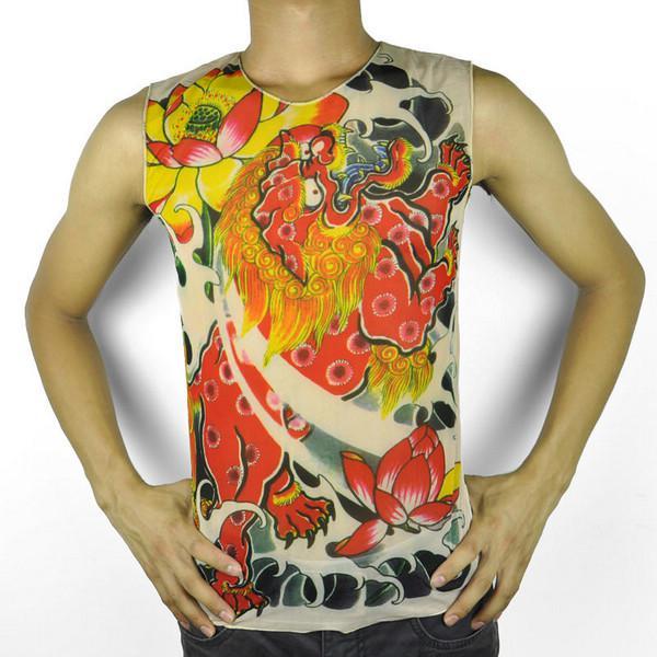 Wholesale cool red unicorn tattoo t shirt short sleeves for Tattoo t shirts wholesale