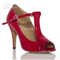 Wholesale 2013 new style Latin dancing shoes soft bottom leather high heeled latin dance shoes ballroom dancin