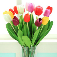 Wholesale Single tulip silk flowers artificial flowers dried flowers placed floral living room decorations