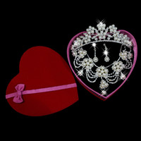 Wholesale Swarovski Elements Wedding Accessories Piece of Bridal Jewelry Sets diamond sets of chain