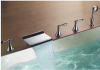 Wholesale Bathroom Bathtub Waterfall Faucet Cold and Hot Basin Mixer C