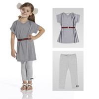 baby wholesale baby girl's sets summer 2pcs clothing set gra...