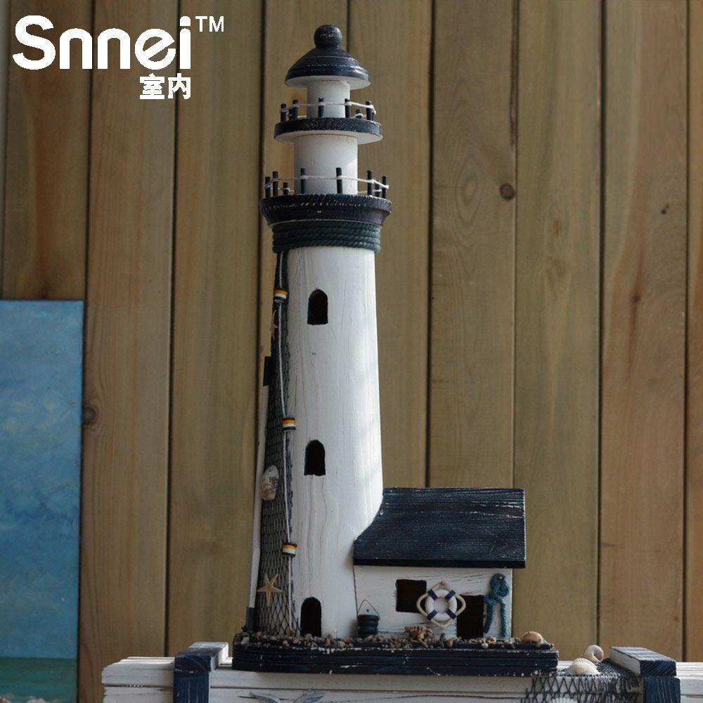 Декоративный маяк из дерева
