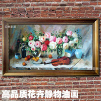 Cheap Rose pure hand painting oil painting classical fashion flower box decorative painting paintings