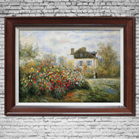 Cheap Monnet rose pure hand painting oil painting decorative painting landscape picture frame painting