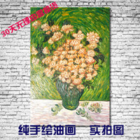 Cheap White rose pure flower still life oil painting decorative painting picture frame painting
