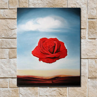 Cheap Rose pure hand painting oil painting decorative painting picture frame