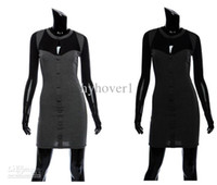Wholesale Super sexy the Hitz breasted decorative mesh stitching long sleeved dress women wear clothing dresse
