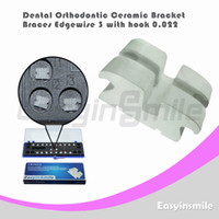 Yes Yes  Free shipping Dental Orthodontic Edgewise Ceramic Bracket Brace 3 with Hook 0.022