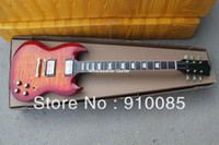 Solid Body 6 Strings Mahogany Free shipping new arrival gold hardware AAA flame maple top sg electric guitar for sale now