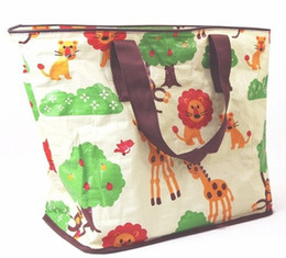 Wholesale New Arrival NADO Frog Lion Car Strawberry Bus Cartoon Shopping bags Children picnic bags outdoor waterproof handy bags mummy diaper bags