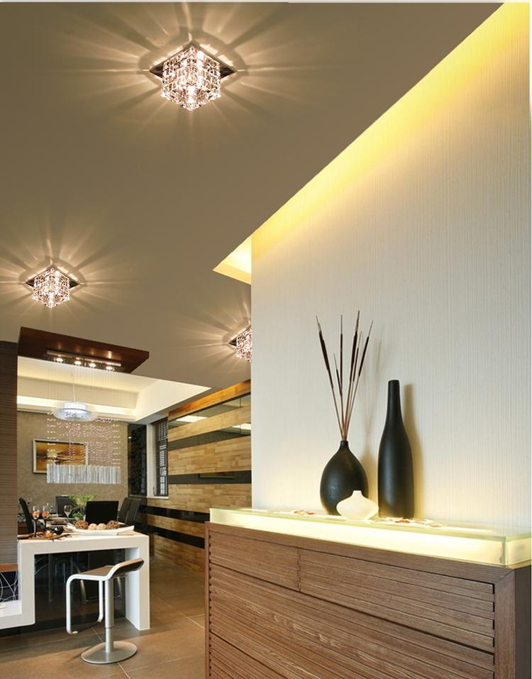 Modern Aisle Corridor Balcony Living Room Crystal LED Ceiling Lights  Pendant Lamps Fixture Lighting Chandelier LED Ceiling Lights LED Crystal Lights  LED ... Part 70