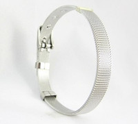 Wholesale 10pcs mm DIY Accessories C001 stainless steel Wristband Bracelet Fit mm slide charms slide letters LSBR01