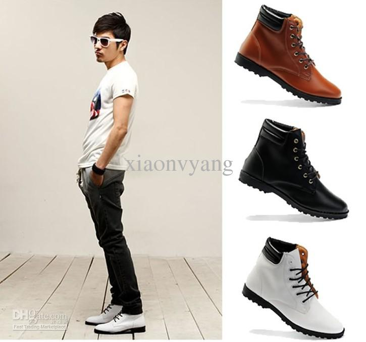 The gallery for high top sneakers men style Korean fashion style shoes