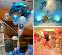 Animal balloons retail - retail length M dolphin foil mylar helium Balloons for Birthday Wedding Party Decoration
