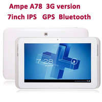 Wholesale Ampe A78 Dual Core G GPS Tablet PC Inch IPS Screen MSM8625 Android GB Phone Bluetooth PB7 B7