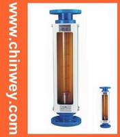 Cheap DN25 LZB -25 glass rotameter flow meter for liquid and gas. conectrator