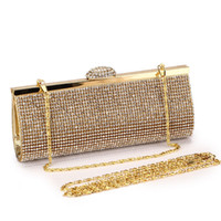 Wholesale blingbling crystal evening bag wedding banquet evening party handbag day clutch fashion bag handmade AAA full crystals RHBB for sale