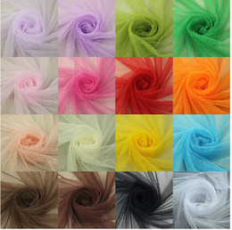 Multi Purpose White Soft Encryption Mesh Yarn for Wedding Party Decorations   Clothing   Curtains  Mosquito Net (16 color)