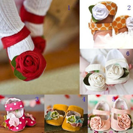 Wholesale Hot infant toddler shoes non slip Baby Flower Shoes Girls Dress Princess Shoes Baby first walking walkers spring and autumn