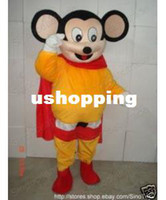Wholesale Mighty Mouse Superman Strong Man Adult Mascot Costume