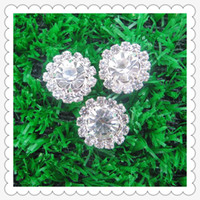 Wholesale Round Shape Rhinestone shank buttons Clothes buttons mm
