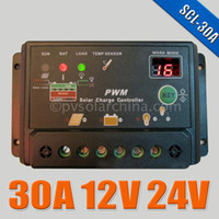 Best 30A 12V 24V Auto intelligence Solar Charge Controller Regulators with Timer and Light Sensor