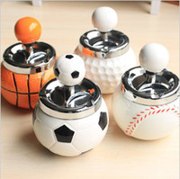 Wholesale Soccer Basketball Golf Softball Personalized ashtray rotary push creative ceramic ashtray