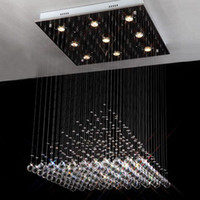Modern Hotel 10 ~ 15sq.m New 60cm Square Crystal Chandelier Lighting