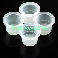 Best EN1653 500pcs Tattoo Ink Caps Disposable Plastic Cups Supplies Medium Size 12mm