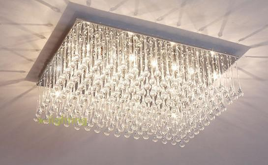 modern contemporary crystal ceiling lamp rain drops chandelier, Lighting ideas