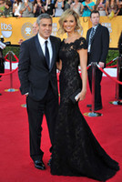 beautiful celebrity dresses - 66th Annual Cannes Film Festival Stacy Keibler Off the shoulder Beautiful black Lace Celebrity Dress