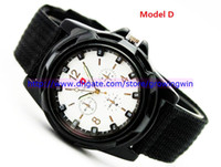 army fabric - Cool Summer Men Sport Military Army Pilot Fabric Strap Sports Men s Swiss Military Watch colors