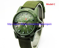 Wholesale 4 colors Military Army Pilot Fabric Strap Sports Men Men s Swiss Military Watch Quartz Wrist watches
