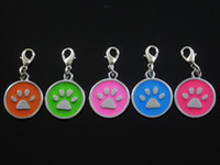 Wholesale Dog footprints Pet ID F002 Tag DIY Hang Charms Pendant Zinc Alloy Brand New pet products dog tag dog