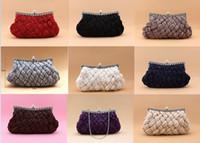 Wholesale 92048 Elegant Satin Banquet Bag Metalic Bridal Handbags Bride Wedding Accessories More Colors you choose